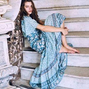 Opal Maxi DRESS Abigail Bohemian Turquoise Gown
